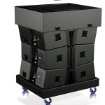 The Dolly is used for easy and safe transport of TouringLine loudspeakers including the flight frame suspension (truck dimension: 80x97 footprint)