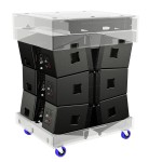TouringLine Dolly for the transport of up to 6 TouringLine modules incl. Bumper and audio accessories