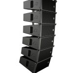 TLC-Module am Light-Bumper Flugrahmen im Line-Array