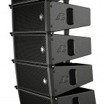 6 TouringLine Compact loudspeakers suspended on the small flying frame (Light Bumper for max 6 elements)