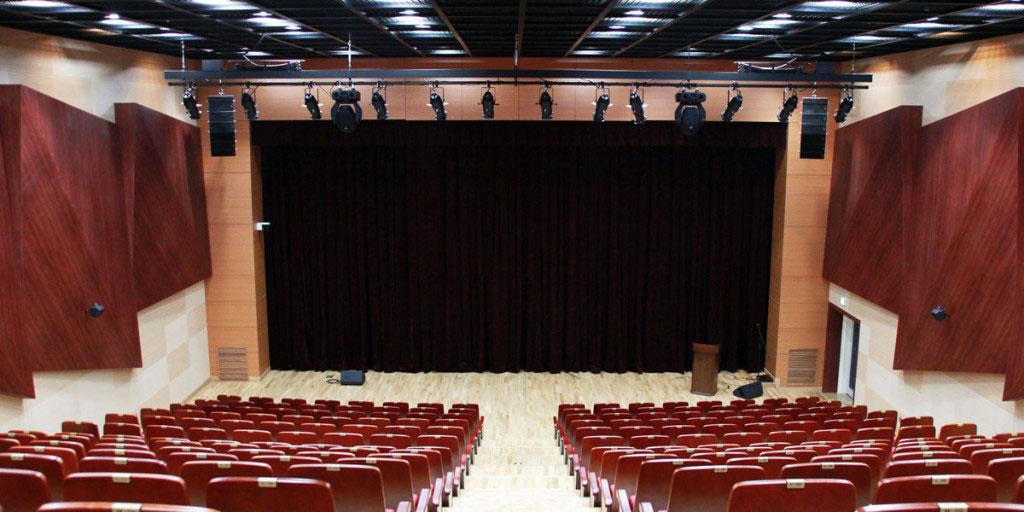 Lautsprecherinstallation in der koreanischen Kyungim Universität