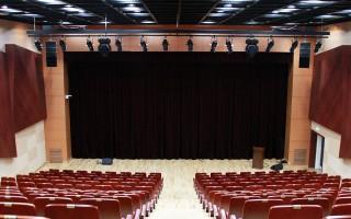 Speaker installation in Kyungim University lecture theater