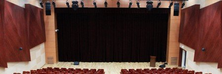 Speaker installation in Kyungim University lecture theater