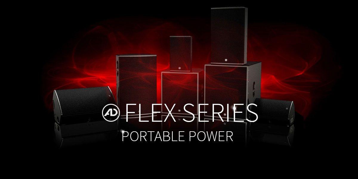 FLEX-Modellserie - mobile Beschallungswerkzeuge für den Verleihprofi und ambitionierte Anwender