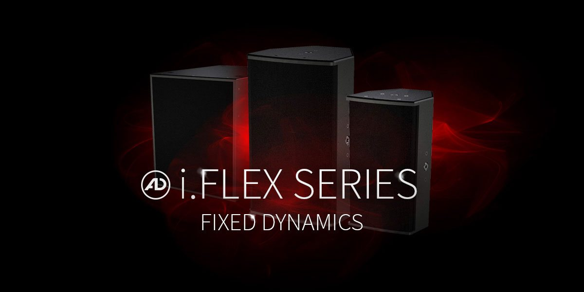 The i.FLEX Series includes loudspeakers for fixed installations