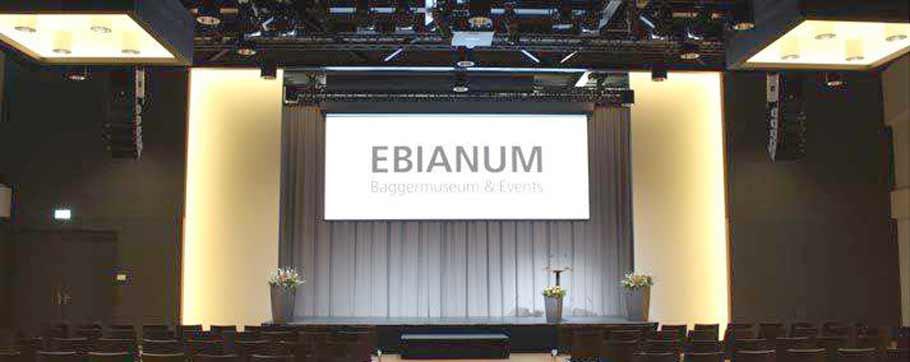 Baggermuseum Ebianum - Blick auf die Bühne