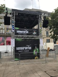 Hamburg-Pride 2017 Party Tower mit TouringSubs und TouringLine Linearrays