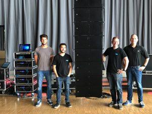 Systemseminar in der Grugahalle mit Linearray und Subwoofern von AD-Systems