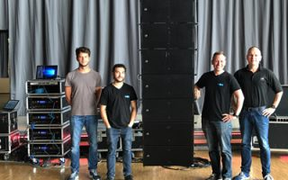 System seminar in the Grugahalle with linearrays and subwoofers from AD-Systems