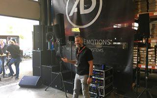 Produktpräsentation beim Firmenevent von AD-Systems