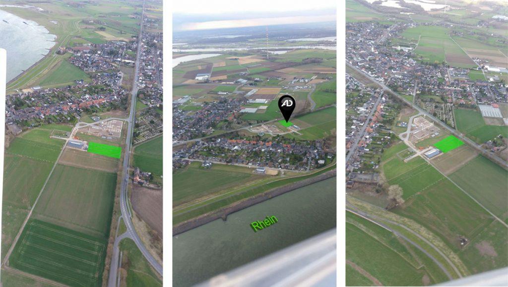 Luftaufnahme des neuen Grundstücks